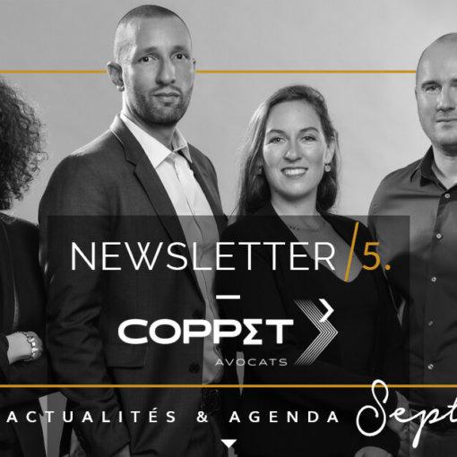 Newsletter 5 du cabinet coppet Avocats, dossier spécial Rentrée