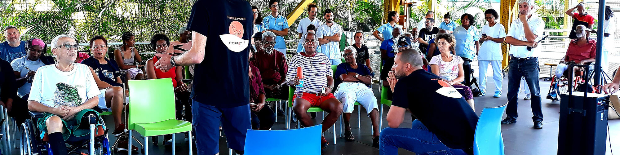 Fabrice Payen et les patients de la Clinique de Choisy au Gosier avec le cabinet d'avocats spécialistes en droit du dommage corporel Coppet Avocats